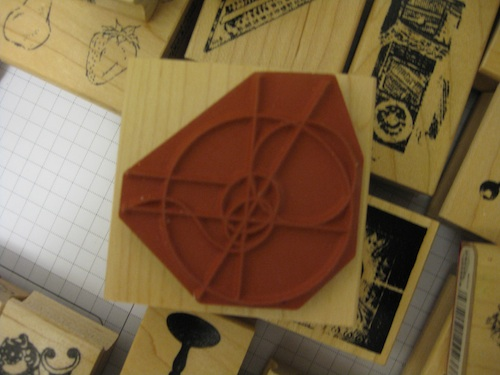 Line type rubber stamp