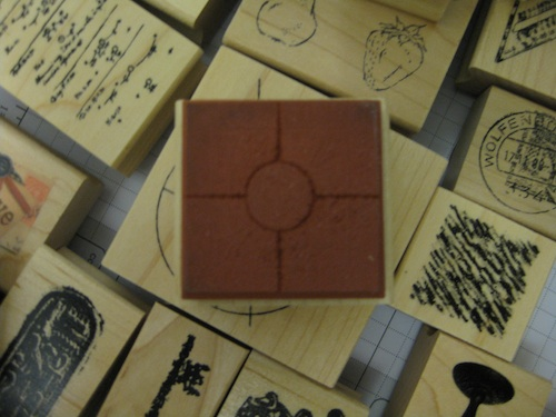 Solid type rubber stamp